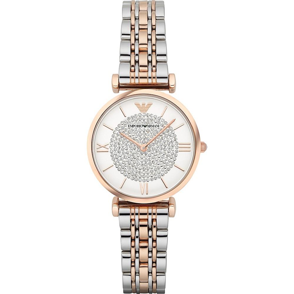 Emporio Armani Women's Retro Two-Tone Stainless Steel Quartz Watch AR1926