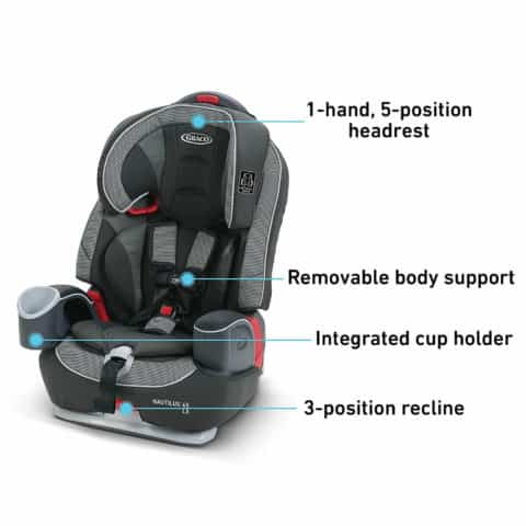 Graco Nautilus 65 LX 3 in 1 Harness Booster Car Seat